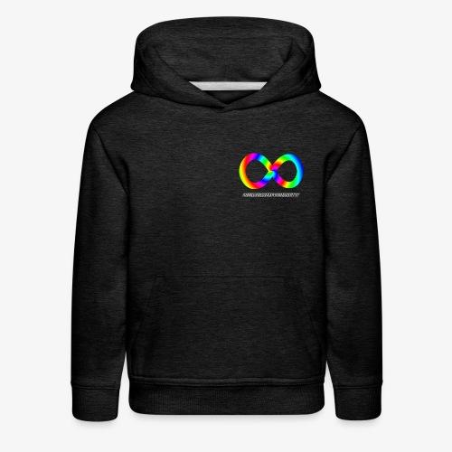 Neurodiversity with Rainbow swirl - Kids' Premium Hoodie
