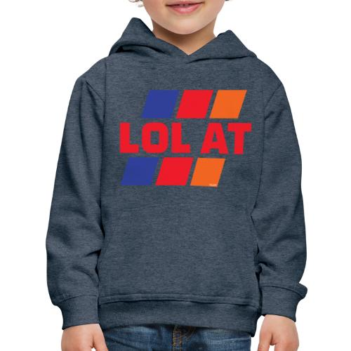 LOL AT Retro Stripes - Kids' Premium Hoodie