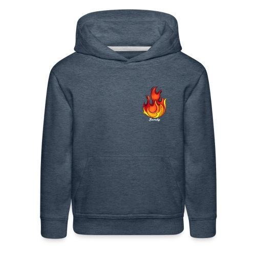 Scorchy White Logo - Kids' Premium Hoodie