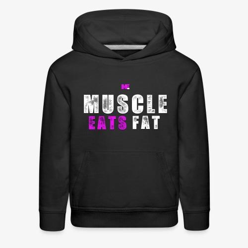 Muscle Eats Fat (Breast Cancer Awareness) - Kids' Premium Hoodie