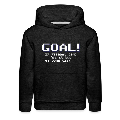 Buzz Flibbet Goal Assisted by Mark Donk - Kids' Premium Hoodie