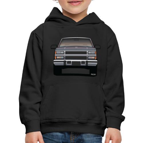 Design Icon: American Bowtie Silver Urban Truck - Kids' Premium Hoodie