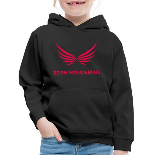 Red Born Wonderful Logo - Kids' Premium Hoodie