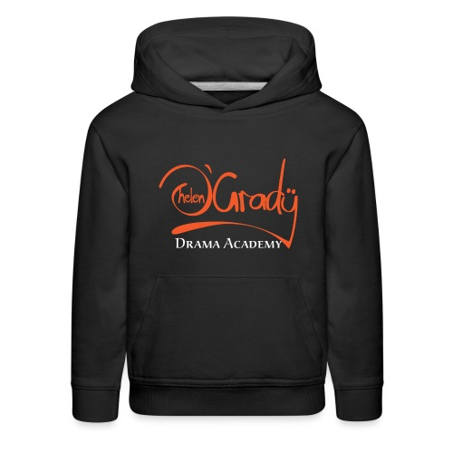 Helen O'Grady Orange Logo on Black - Kids' Premium Hoodie