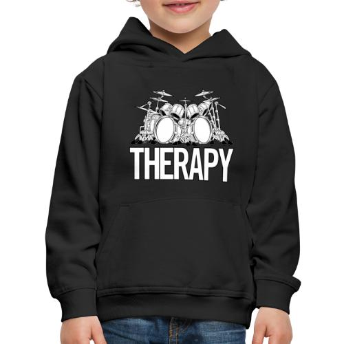 Drummers Therapy Drum Set Cartoon Illustration - Kids' Premium Hoodie