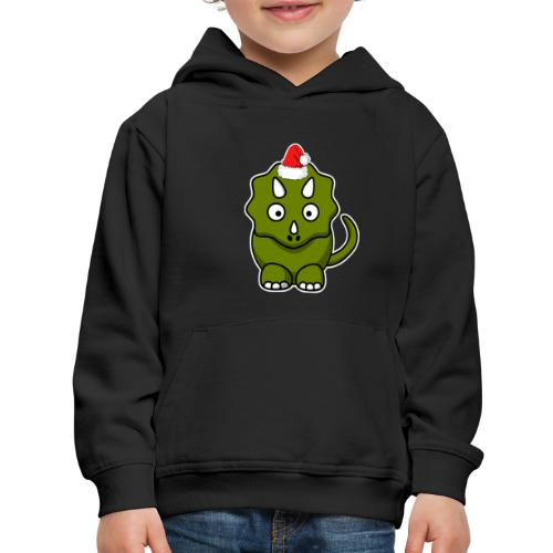 Happy Holidays Triceratops - Kids' Premium Hoodie