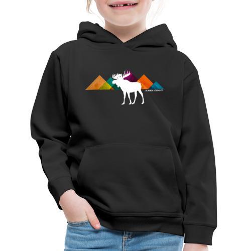 Moose and Mountains Design - Kids' Premium Hoodie