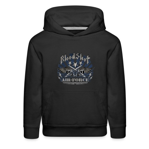 BloodShot Air Force with black - Kids' Premium Hoodie