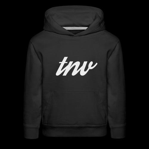 TNV WHITE DESIGN CLSSC png - Kids' Premium Hoodie