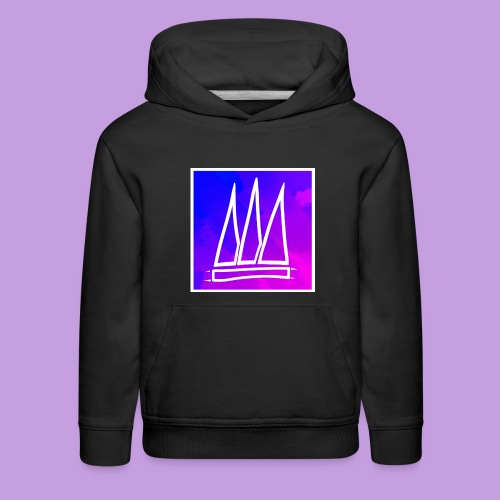 Abstract Banner - Kids' Premium Hoodie