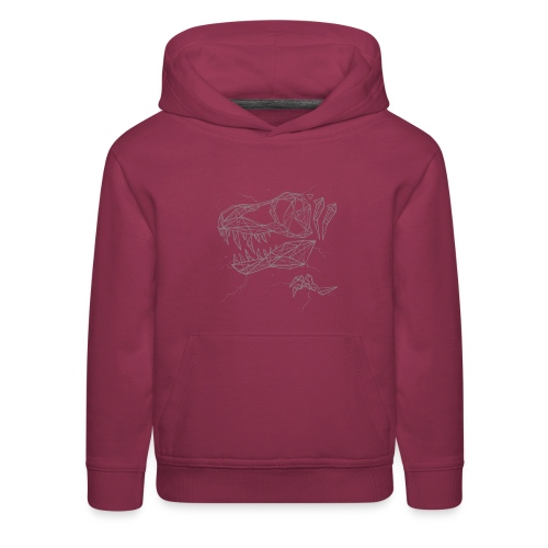 Jurassic Polygons by Beanie Draws - Kids' Premium Hoodie