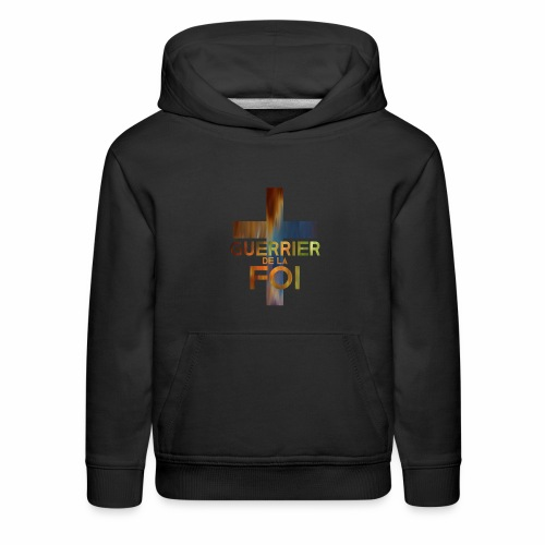 WARRIOR OF FAITH - Kids' Premium Hoodie