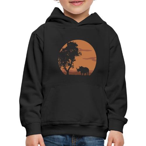 Rhino landscape - Kids' Premium Hoodie