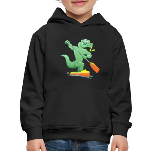 Water Monitor Competing in a Canoe Sprint Event - Kids' Premium Hoodie