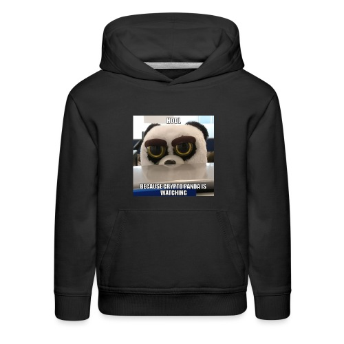 Crypto Panda Is Watching - Kids' Premium Hoodie