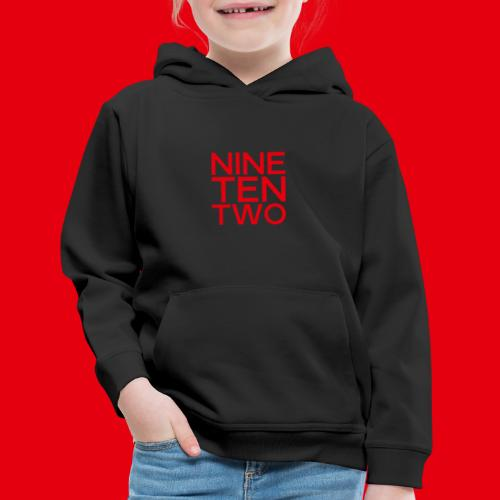 Red NineTenTwo Logo Text - Kids' Premium Hoodie