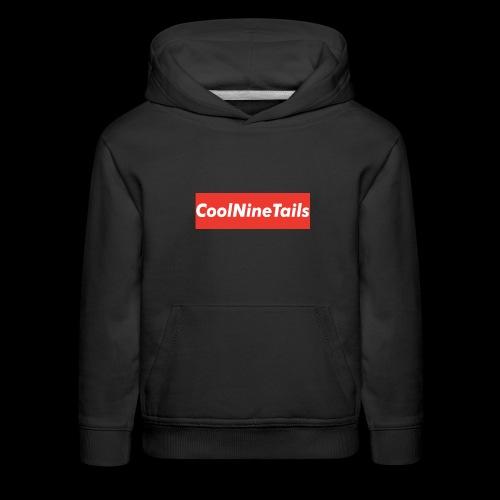 CoolNineTails supreme logo - Kids' Premium Hoodie