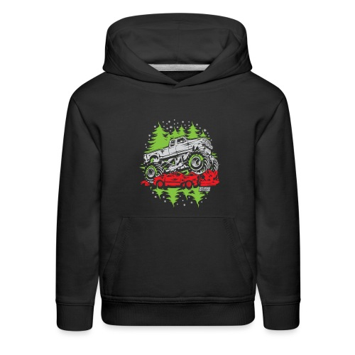 Ugly Christmas Monster - Kids' Premium Hoodie
