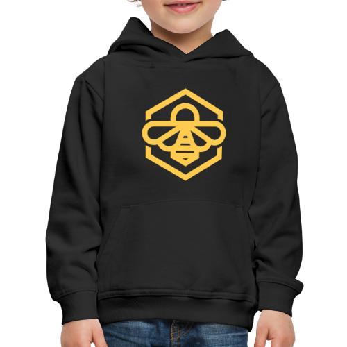 bee symbol orange - Kids' Premium Hoodie