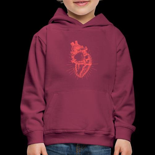Hand Sketched Heart - Kids' Premium Hoodie