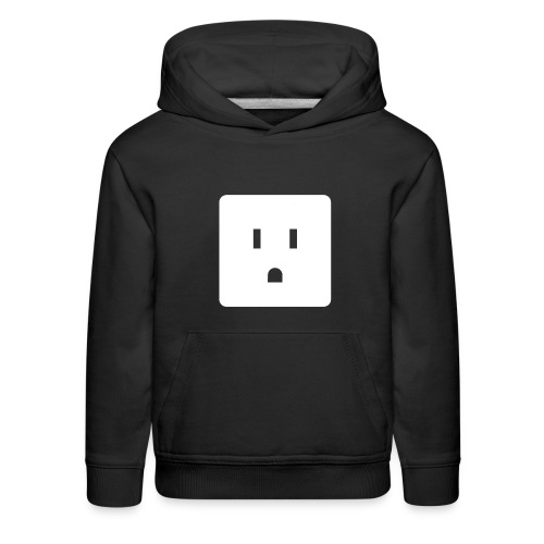 Funny Halloween Couples Costume Wall Outlet Female - Kids' Premium Hoodie