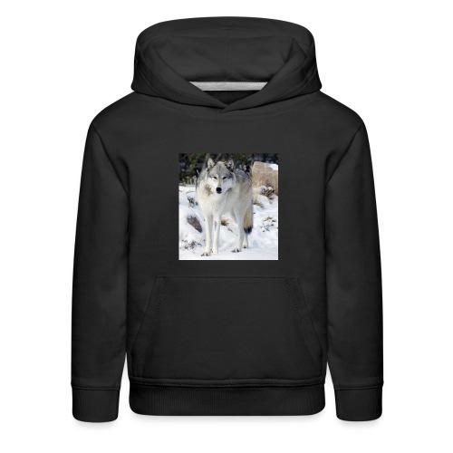 Canis lupus occidentalis - Kids' Premium Hoodie