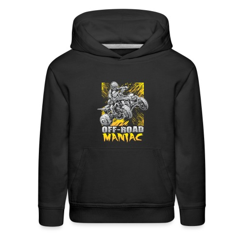 Maniac Riding ATV Quad - Kids' Premium Hoodie