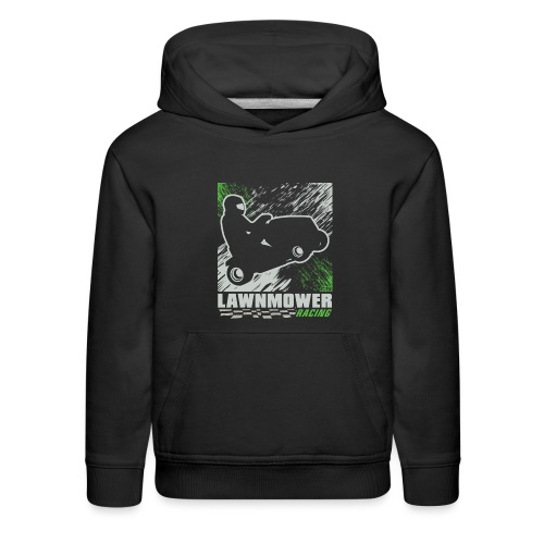 Lawnmower Racing Abstract - Kids' Premium Hoodie
