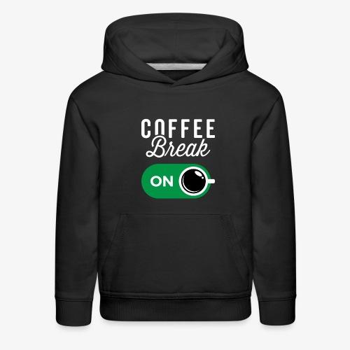 Coffee Break On - Kids' Premium Hoodie