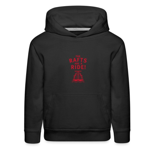 Traveling With The Mouse: Rafts Are A Ride (RED) - Kids' Premium Hoodie