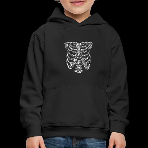 Ribcaged Bird | Halloween Bird Skeleton - Kids' Premium Hoodie