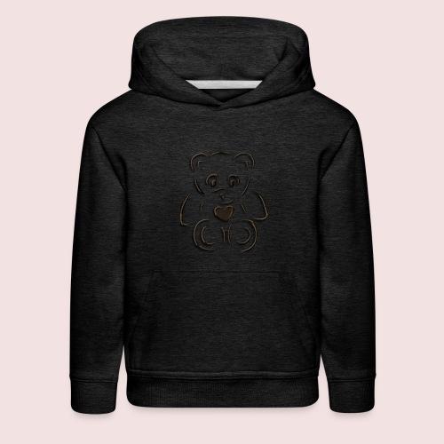 realistic teddy - Kids' Premium Hoodie