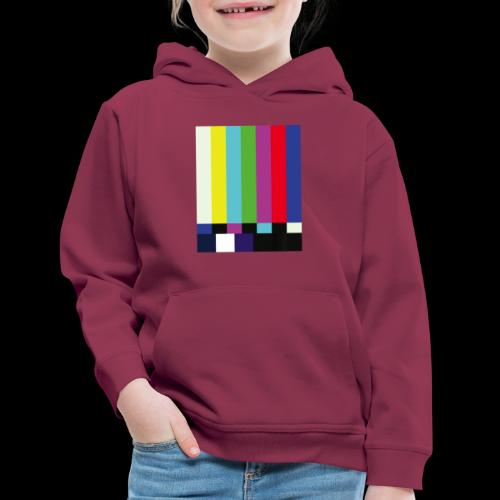 This is a TV Test   Retro Television Broadcast - Kids' Premium Hoodie