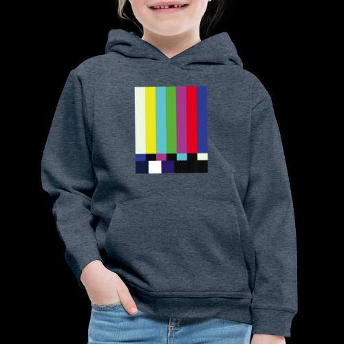 This is a TV Test | Retro Television Broadcast - Kids' Premium Hoodie