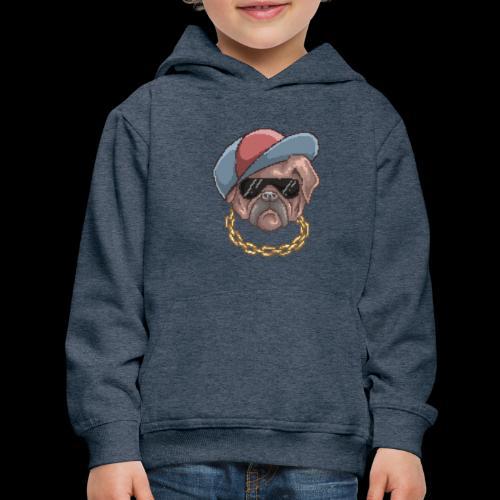 Pug Life | Funny Animal Pixel Art - Kids' Premium Hoodie