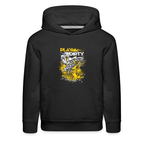 Rude Dirt Bike Play Dirty - Kids' Premium Hoodie