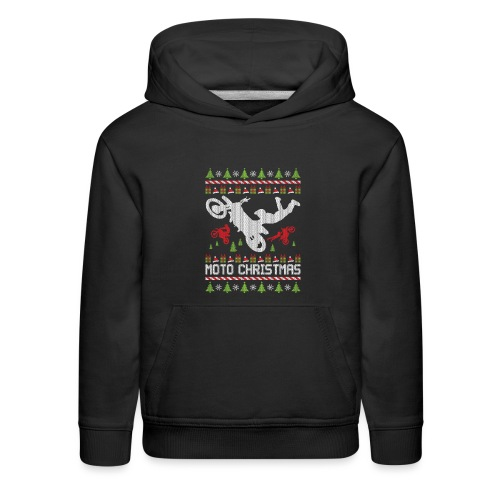 Christmas Supercross Bike - Kids' Premium Hoodie