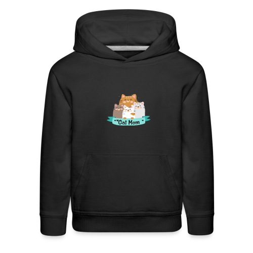 Cat MOM, Cat Mother, Cat Mum, Mother's Day - Kids' Premium Hoodie