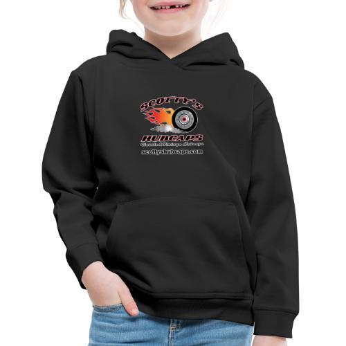 ScottysHubcaps Logo wWebsite WhiteOutline - Kids' Premium Hoodie