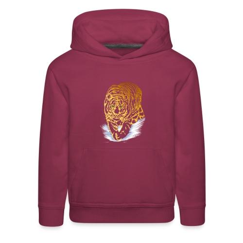 Golden Snow Tiger - Kids' Premium Hoodie