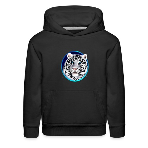 Framed White Tiger Face - Kids' Premium Hoodie