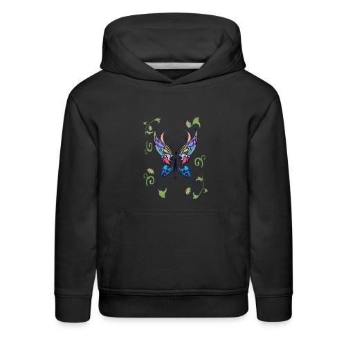 Bright Butterfly - Kids' Premium Hoodie