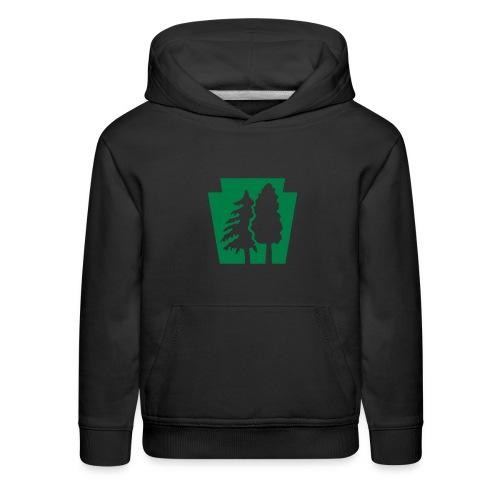 PA Keystone w/trees - Kids' Premium Hoodie