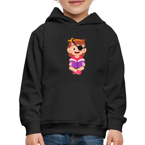 Little girl with eye patch - Kids' Premium Hoodie