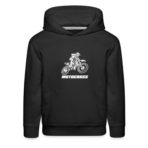 Motocross Logo White - Kids' Premium Hoodie