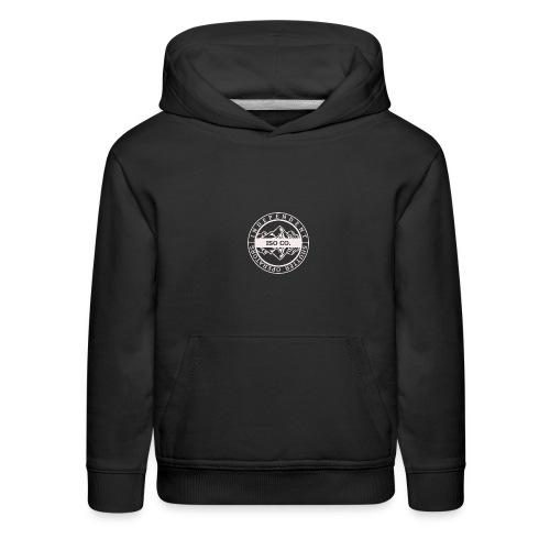 ISO Co. White Classic Emblem - Kids' Premium Hoodie