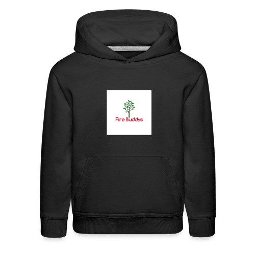 Fire Buddys Website Logo White Tee-shirt eco - Kids' Premium Hoodie