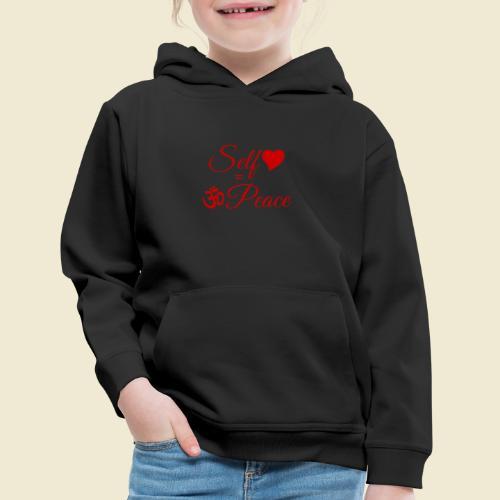 108-lSa Inspi-Quote-83.b Self-love = OM-Peace - Kids' Premium Hoodie
