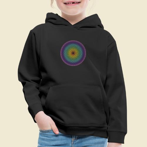 Torus Yantra Hypnotic Eye rainbow - Kids' Premium Hoodie