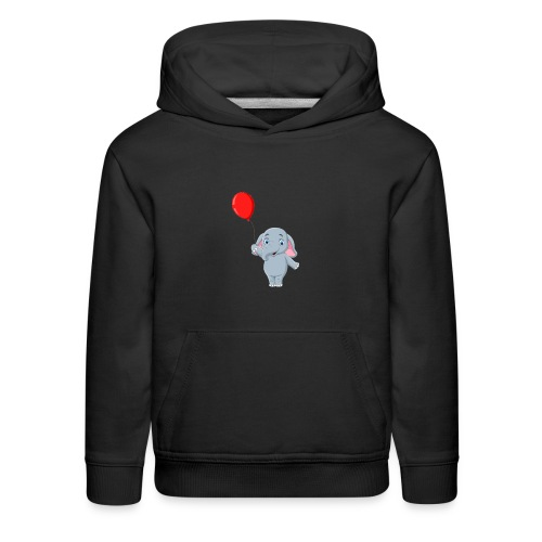 Baby Elephant Holding A Balloon - Kids' Premium Hoodie